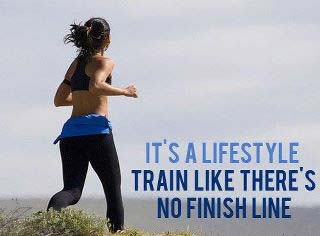 TRAIN LIKE THERE'S NO FINISH LINE.